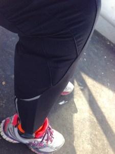 Bein mit Schiene