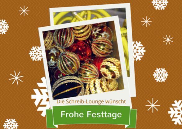 Schreib-Lounge Weihnachtskarte