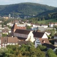 Bad Zurzach vom Waldrand des Achenbergs